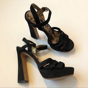 Sam Edelman Taryn Velvet Heels, size 6